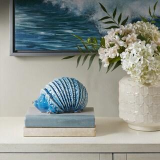 Madison Park Hedgehog Blue Ceramic Decor