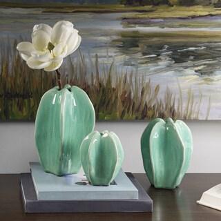 Madison Park Loras Green Ceramic Vase Set Of 3