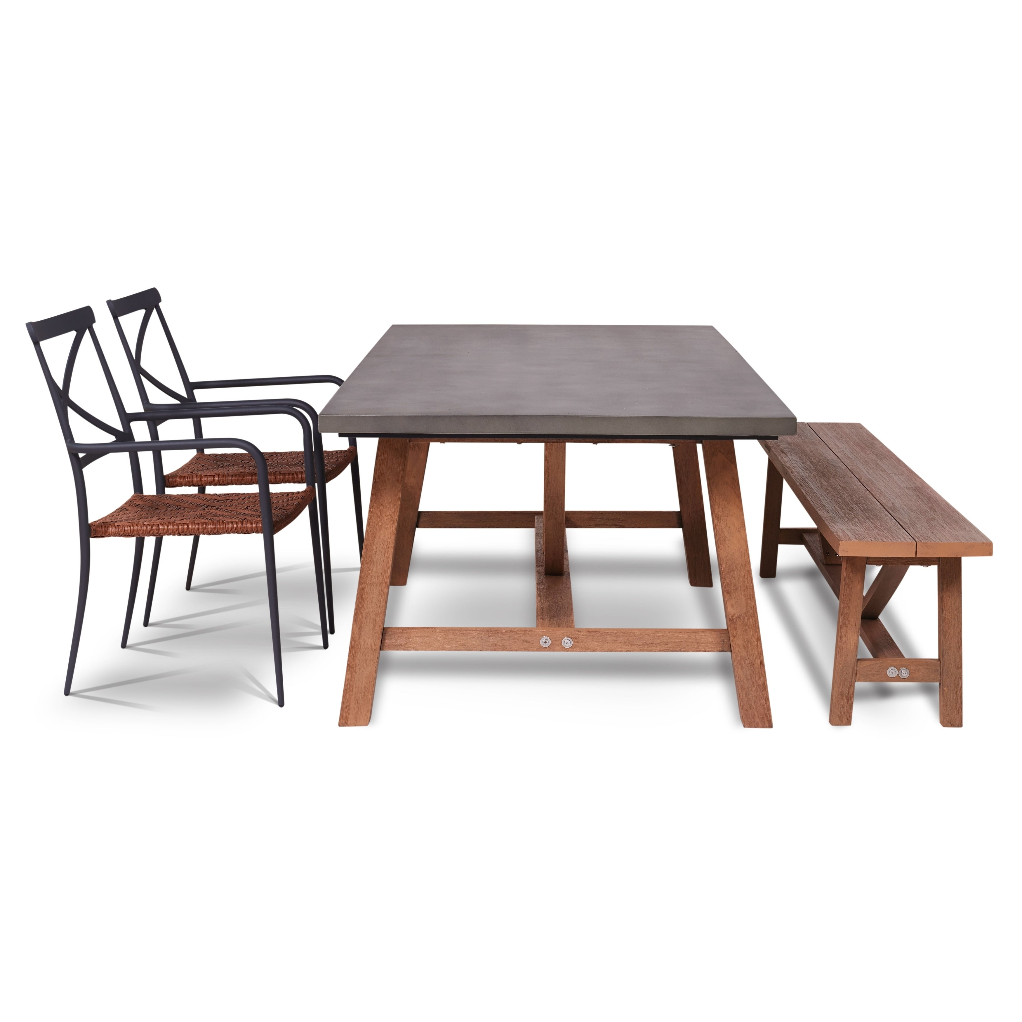 Outstanding Amalfi 4 Piece Outdoor Dining Set With Cement Tabletop Ibusinesslaw Wood Chair Design Ideas Ibusinesslaworg