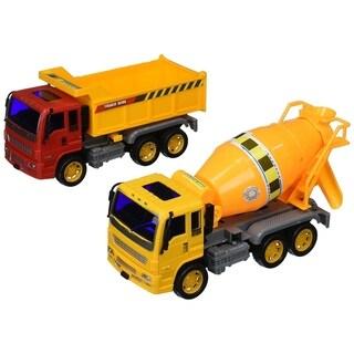Heavy Duty Construction Trucks Friction Powered Toy Trucks Set
