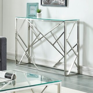 Juniper-Console Table-Chrome