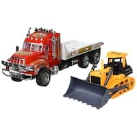 Super Speed Power Friction Powered Construction Toy Tow Truck