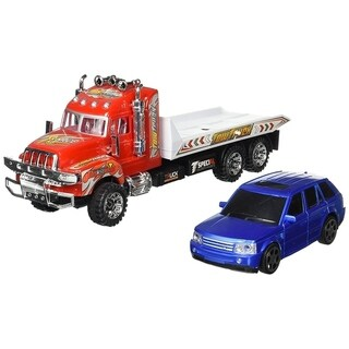 Super Speed Power Friction Powered Toy Tow Truck w/ Toy Car
