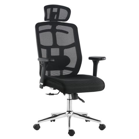 Poly and Bark Simmons Office Chair in Mesh, Black
