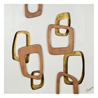 Renwil Pebbles Square Wood Wall Décor