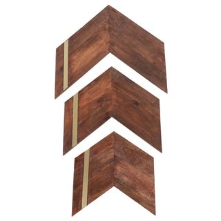 Renwil Roswell Irregular Mango Wood and Iron Wall Décor