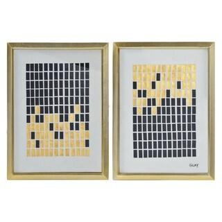 Renwil Spiegel Rectangular Paper and Glass Wall Décor