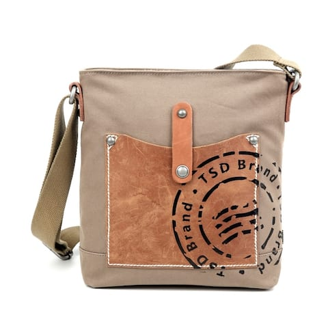 TSD Brand Super Horse Canvas Crossbody Bag - S