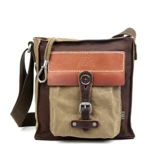 TSD Brand Hidden Woods Canvas Crossbody Bag