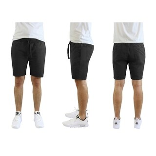 Galaxy By Harvic Men's Cotton Stretch Poplin Lounge Shorts