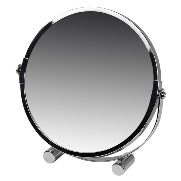 """Chrome Two-Sided Cosmetic Mirror 1x/2x (6.75"""")"""