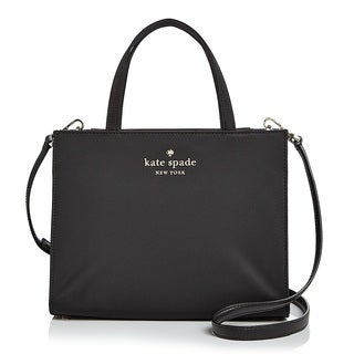 kate spade new york Watson Lane Sam Nylon Black Satchel Handbag