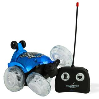 Dimple DC13983BL Blue RC Remote Controlled Stunt Car with 360 Front Wheels for Flipping, Spinning and Racing