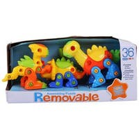 Dimple DC12753 Premium pack of 3 Educational Build Your Own Dino Toys, (106 pieces) Top Construction Toy