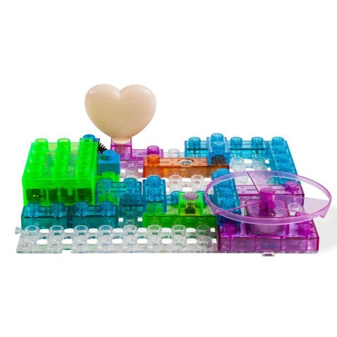 Dimple DC13995 Lectrixs Electronic Building Blocks (34-Piece Set with 115 Projects) Light Up DIY Stacking Toys