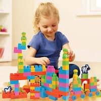 Dimple DC12702 Large Building Blocks for Kids (225-Piece Set) Stackable, Multi-Colored, Interlocking Toys Safe, Non-Toxic