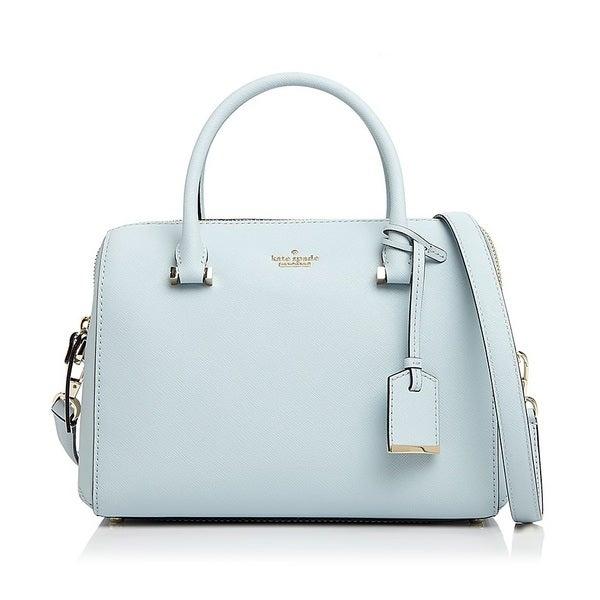kate spade new york Cameron Street Lane Large Shimmer Blue Satchel Handbag eb15f9a07ad9b