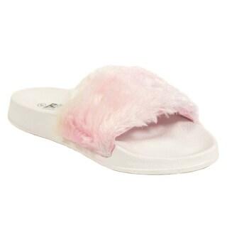 Blue Girls 'K-Gigi Candy' Faux Fur Sandals