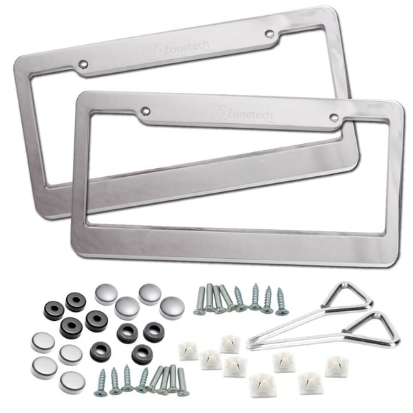 Shop Zone Tech Matte Aluminum License Plate Cover Frame - 2-Pack ...