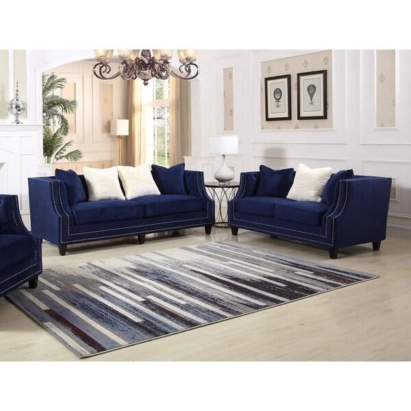 Shop Best Master Furniture Weathered Oak Sleigh: Shop Best Master Furniture Hampstead Sofa And Loveseat