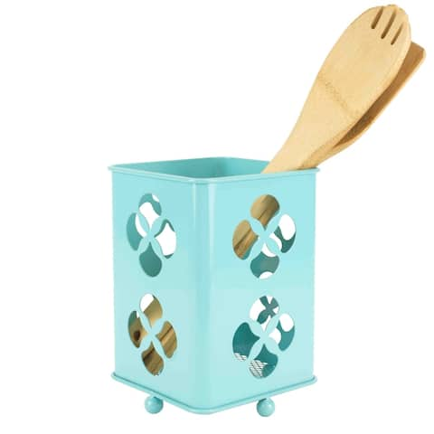 Sweet Home Collection Cutlery Holder Trinity (Turquoise)