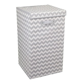 Chevron Laundry Hamper (Grey)