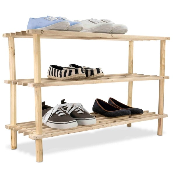 Shop 3 Tier Wooden Shoe Rack On Sale Free Shipping On Orders