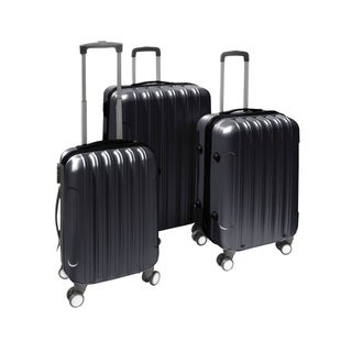 ALEKO Travel Spinner Luggage Set ABS Suitcase With Lock Set of 3