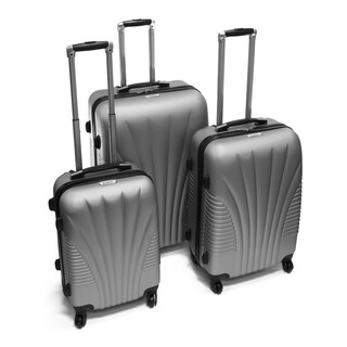ALEKO ABS Luggage Art Deco Pattern 3-piece Hardside Spinner Luggage Set