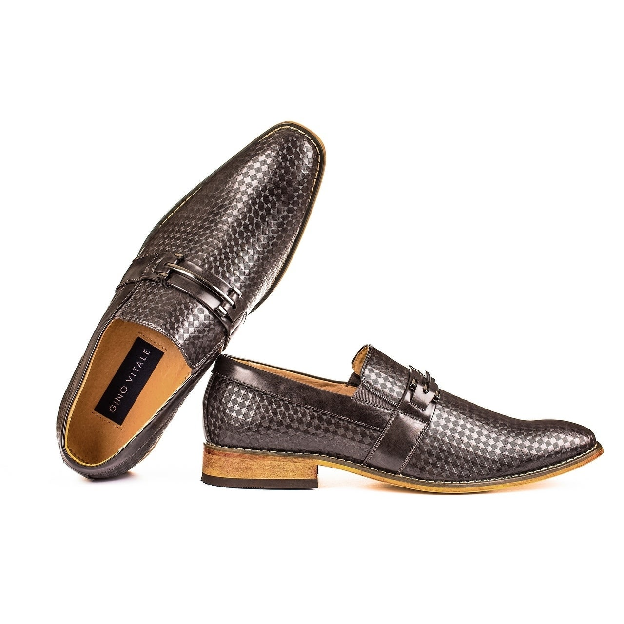 Gino Vitale Men's Diamond-Cut Loafers (Multi Colors)