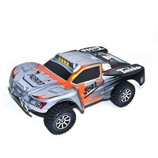 ALEKO 4WD RC 2.4GHz LiPo Powered Silver Off-Road Truck 1/18 Scale