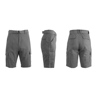 Galaxy By Harvic Men's Cotton Belted Cargo Shorts