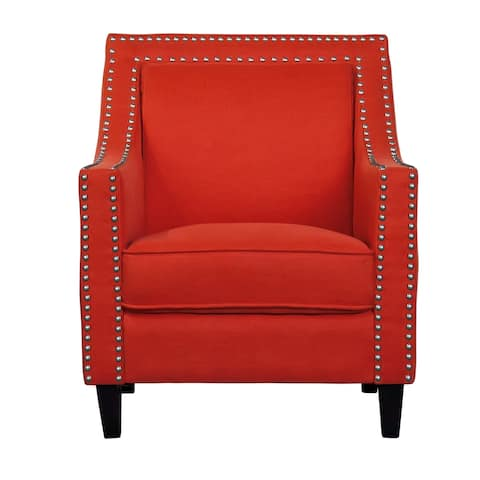 Transitional Nailhead Trim Accent Chair