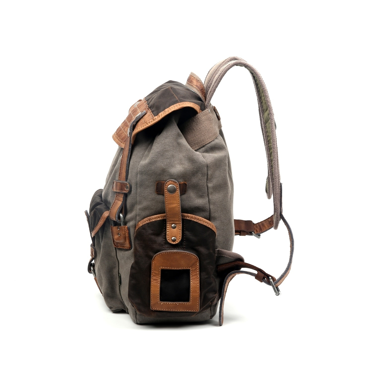 5e657110df6a9d TSD Brand Tapa Two-Tone Canvas Backpack 852676965646 | eBay