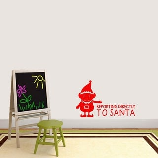 Elf Reporting Directly to Santa Wall Decals Wall Stickers