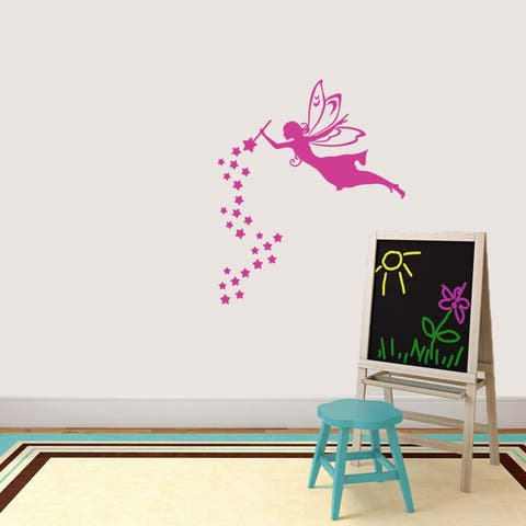 Fairy With Wand And Stars Wall Decal