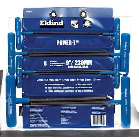 Eklind POWER-T Metric T-Handle 9 in. L Hex Key Set 8 pc. 2-10mm