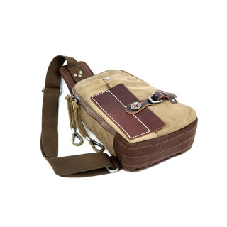 TSD Brand Hidden Woods Canvas Sling Backpack
