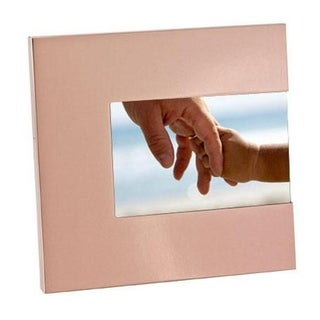 "Elegance 3-Sided Photo Frame 6x4"" Shiny Copper Finish, Aluminum"