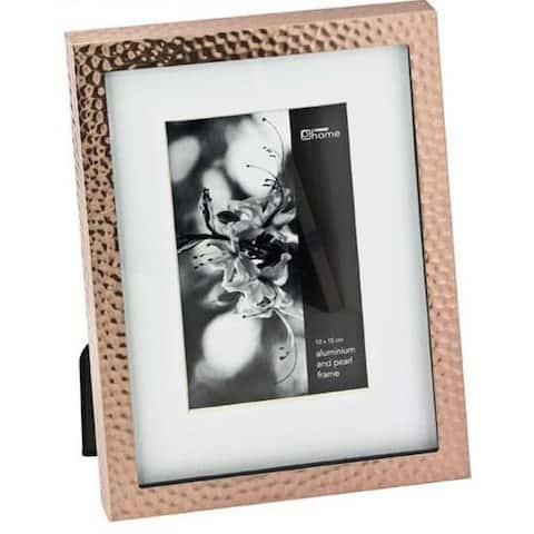 "Elegance 4x6"" Hammered Border Photo Frame, Copper Finish, Aluminum"