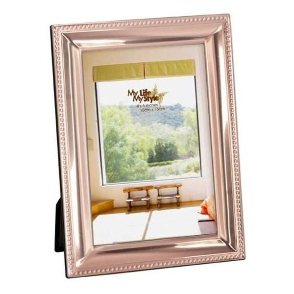 Elegance Photo Frame 8x10 Beveled with Beaded Border, Copper Finish Aluminum