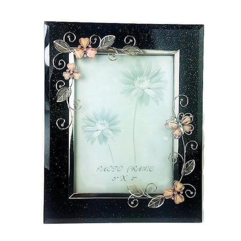 "Elegance Pink Butterfly 5x7"" Photo frame"