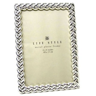 "Elegance 4x6"" Silver Knotted Border Photo Frame"