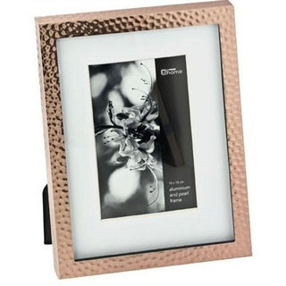 "Elegance 5x7"" Hammered Border Photo Frame, Copper Finish, Aluminum"
