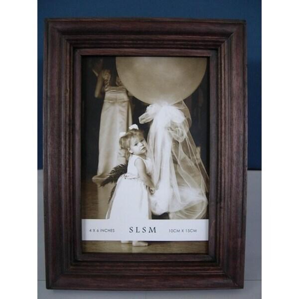 Shop Elegance 8x10 Wood Photo Frame Convex Border Free Shipping
