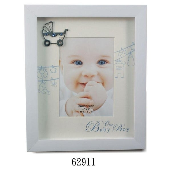 Shop Elegance Its A Boy Picture Frame 4x6 Free Shipping On