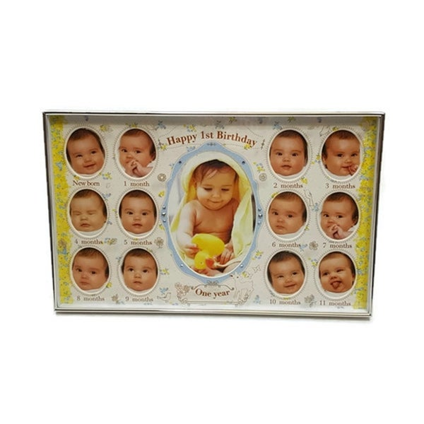 Shop Elegance Baby First Birthday Collage Photo Frame - Free ...