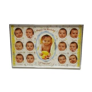 Elegance Baby First Birthday Collage Photo Frame