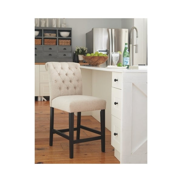 Shop Carlisle Counter Height Button Tufted Solid Wood Bar