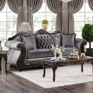 Furniture of America Westport Traditional Tufted Chenille Sofa (2 options available)